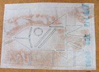 写真 2.1 防染糊を使い柄を写し取るタイプ