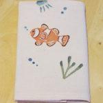 型染めブックカバー クマノミと海の仲間たち