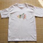 型染めTシャツ 銀河トリ