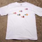 型染めTシャツ 銀河トリの群れ