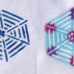 型染めTシャツ 雪輪