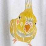 型染めTシャツ オカメインコ